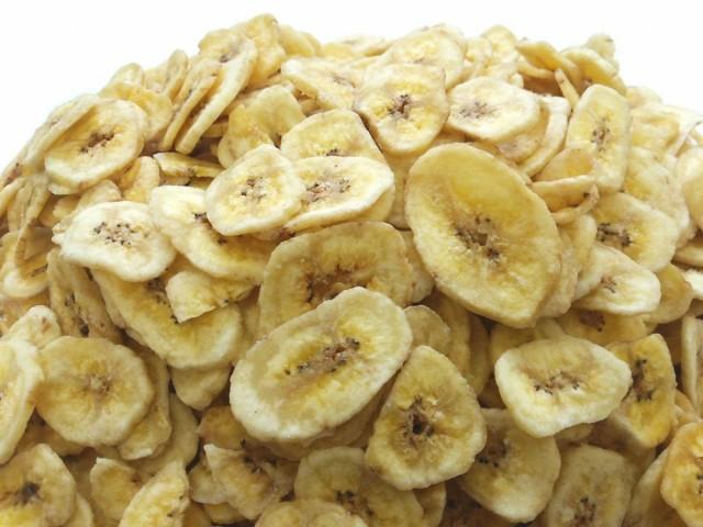 バナナチップス 8kg (1kgx8袋) チャック袋 ココナッツオイル使用 フィリピン産 黒田屋