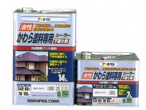 アサヒペン #401588 油性かわら塗料 専用シーラー 7L (クリア)