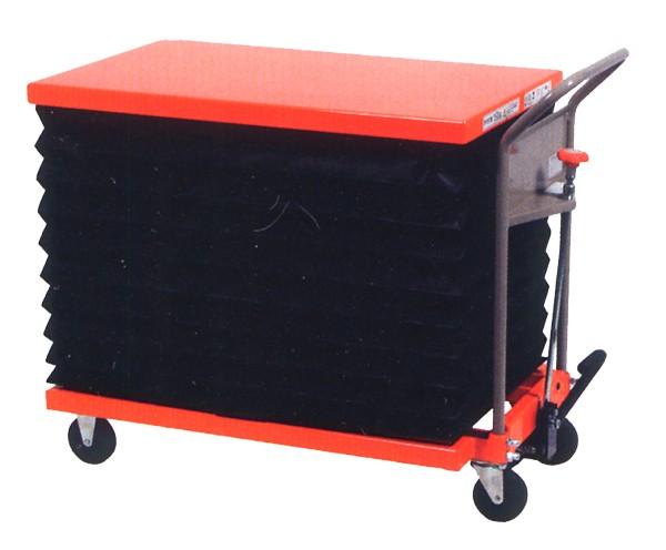ハマコS.S HLH-1000LJ 油圧足踏式テーブルリフト台車(ジャバラ付)