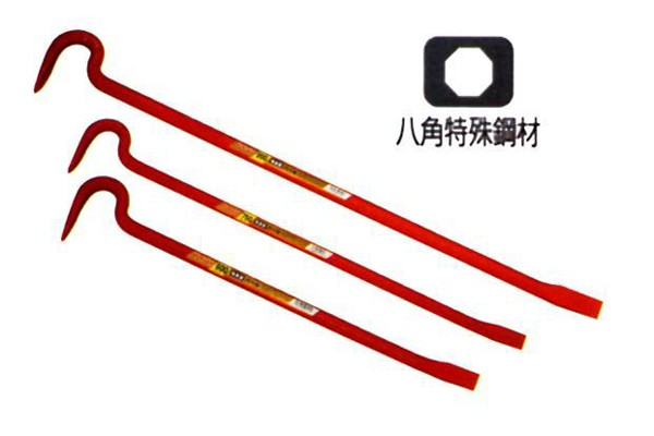 モクバ /小山刃物 C-2 19×600 八角バールA型 (改良型) ツル首強力型 19×600mm