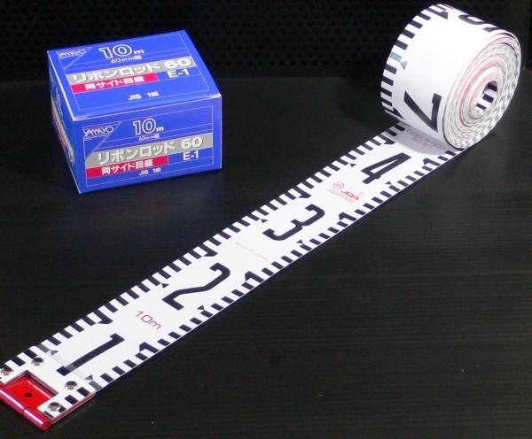 ヤマヨ測定機 R6A20 リボンロッド 両サイド60-E1 60mm巾×20m