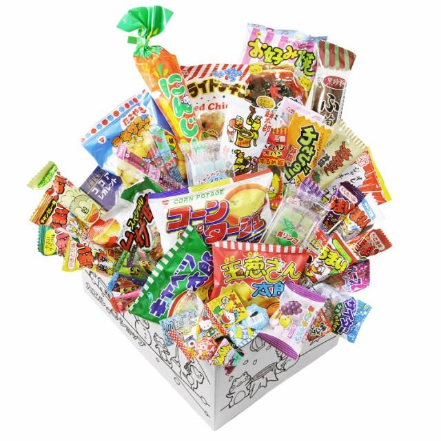 【カエルショップ オリジナル】駄菓子詰め合わせ 40点お菓子セット! お誕生日、こどもの日や入学祝いのプレゼントに。イベントやパー