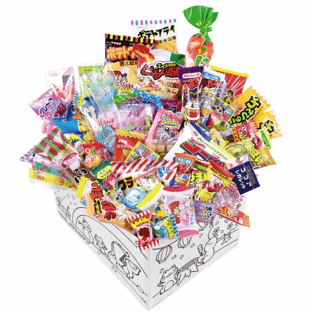 【カエルショップ オリジナル】駄菓子詰め合わせ 80点お菓子セット! お誕生日、こどもの日や入学祝いのプレゼントに。イベントやパー