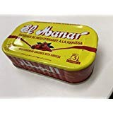 ハラル認証 オイルサーディン ハリサ入り 125gr チュニジア いわしのオリーブオイル漬 缶詰