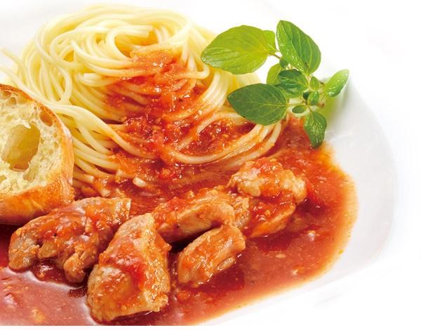 鶏もも肉のトマト煮込み 170g×4袋 トマト煮 湯せん 鶏肉 鶏モモ 洋食 パスタ ソース 冷凍 国内製造 おとりよせ グルメ お取り寄せ 米久