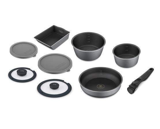 アイリスオーヤマ ダイヤモンドコートパンディープラス IH9点セット DCI-S9S スレートグレー送料無料 IH フライパン 深型 鍋 なべ セット