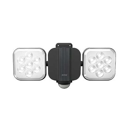 □ ライテックス 11W×2灯 フリーアーム式LEDセンサーライト LED-AC2022 【4954849532221:14618】