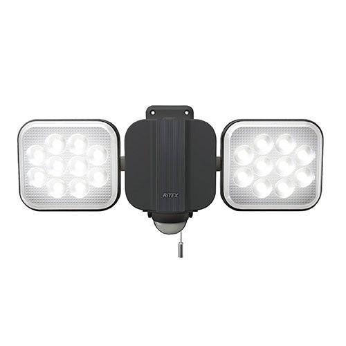 ライテックス 14W×2灯 フリーアーム式LEDセンサーライト LED-AC2028