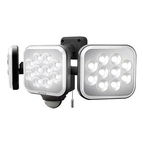 □ ライテックス 14W×3灯 フリーアーム式LEDセンサーライト LED-AC3042 【4954849533426:14618】