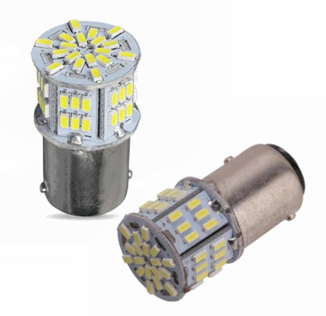 白2個セット1156 54連 12V 3014SMD S25 シングル LED ランプ 超高輝度
