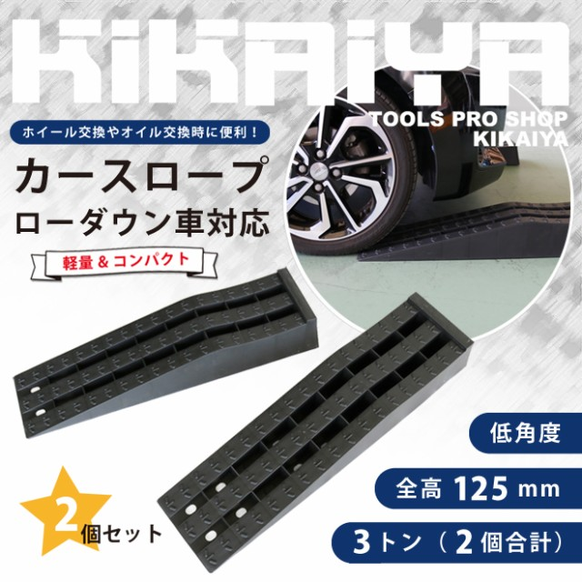 【送料無料】カースロープ ローダウン車対応 2個セット プラスチックラダーレール 軽量 コンパクト 整備用スロープ カーランプ ジャッキ