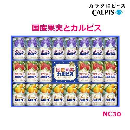 国産果実とカルピスギフト NC30 送料無料 ギフト 内祝 入学内祝 出産内祝 贈り物 カルピス 贈答 乳酸菌 NC-30 アップデート