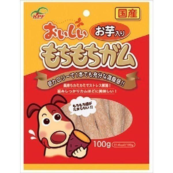 おいしいもちもちガム 犬用おやつ お芋 100g