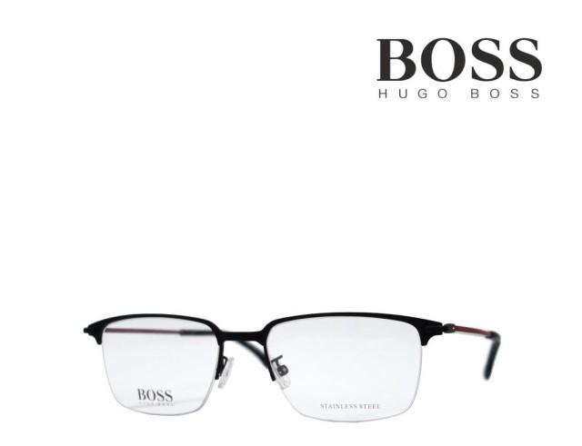 【HUGO BOSS】 ヒューゴ ボス メガネフレーム BOSS 1034/F 003 マットブラック 国内正規品