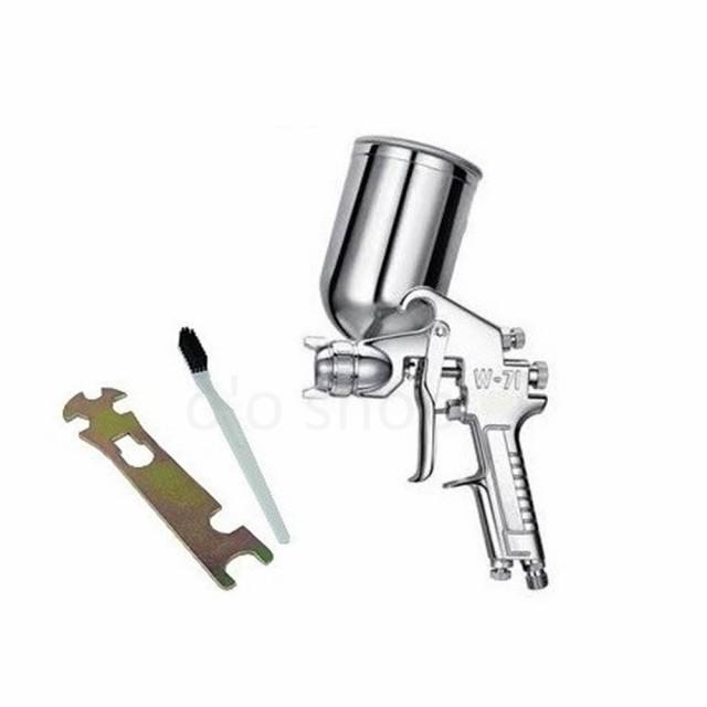 エアースプレーガン 重力式 w-71g 口径1.5mm 400cc エアー量・塗料濃度調整可能 エアスプレーガン