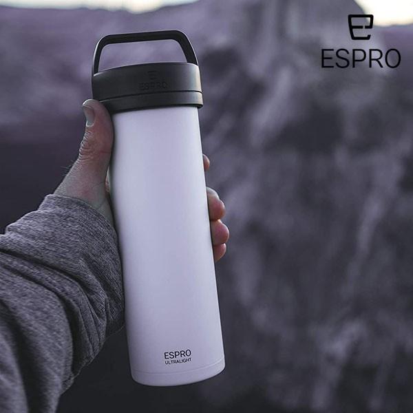 P5倍 ESPRO コーヒープレス ウルトラライト コーヒー ホワイト 白 エスプロ 473ml 軽量 おうち時間 アウトドア クラフトコーヒー キャン
