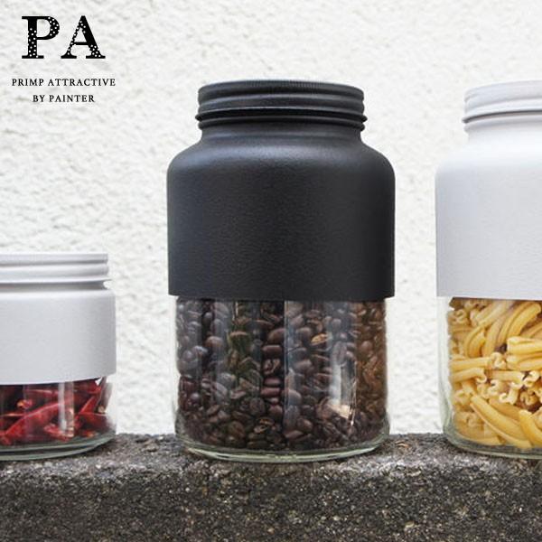 P5倍 PA ボトル型キャニスター L(1500ml) Black 黒 ブラック 湯せん不可 見せる収納 コーヒー豆 紅茶 グラノーラ 調味料 おうち時間 ピ