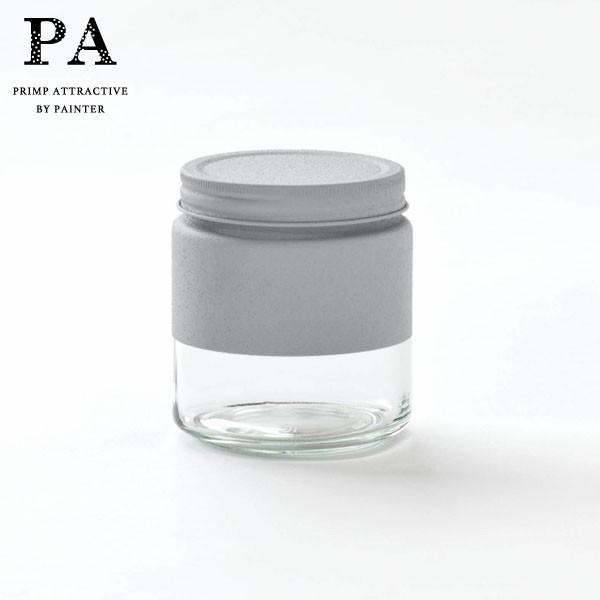 P5倍 PA ボトル型キャニスター S(510ml) Gray 灰 グレー 湯せん不可 見せる収納 コーヒー豆 紅茶 グラノーラ 調味料 おうち時間 映え