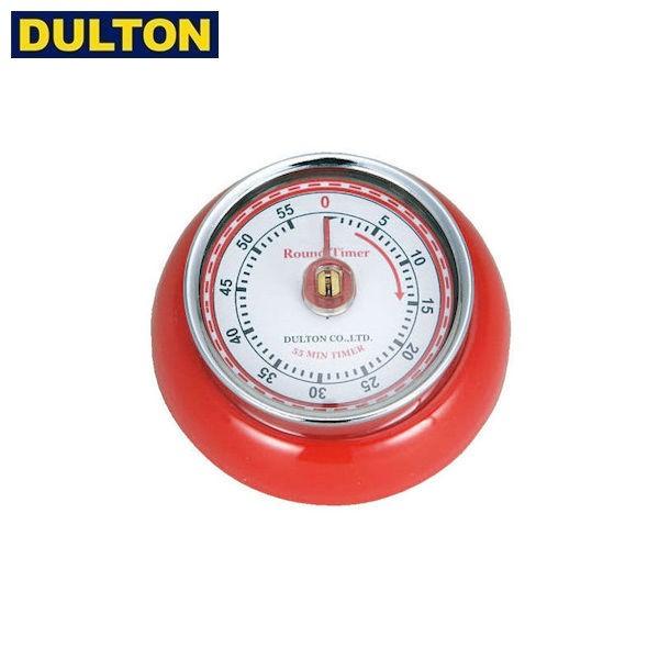 P5倍 DULTON キッチンタイマー ウィズ マグネット レッド KITCHEN TIMER W/MAGNET RD (品番:100-189RD) ダルトン インダストリアル アメ