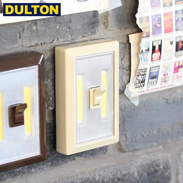DULTON LED トグル スイッチ ライト ベージュ (品番:Y855-958BE) ダルトン インダストリアル アメリカン ヴィンテージ 男前