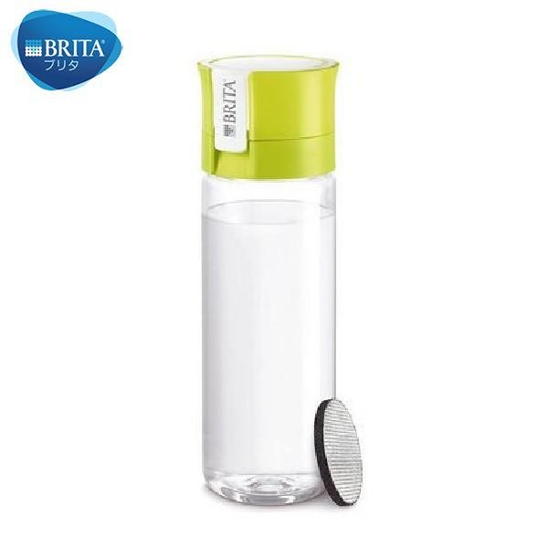 BRITA ブリタ 水筒 直飲み 600mL 携帯用 浄水器 ボトル フィル&ゴー ライム fill & go