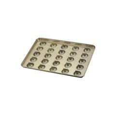 全品P5〜10倍 シリコン加工 マロンケーキ型天板 25ヶ取 WTV41