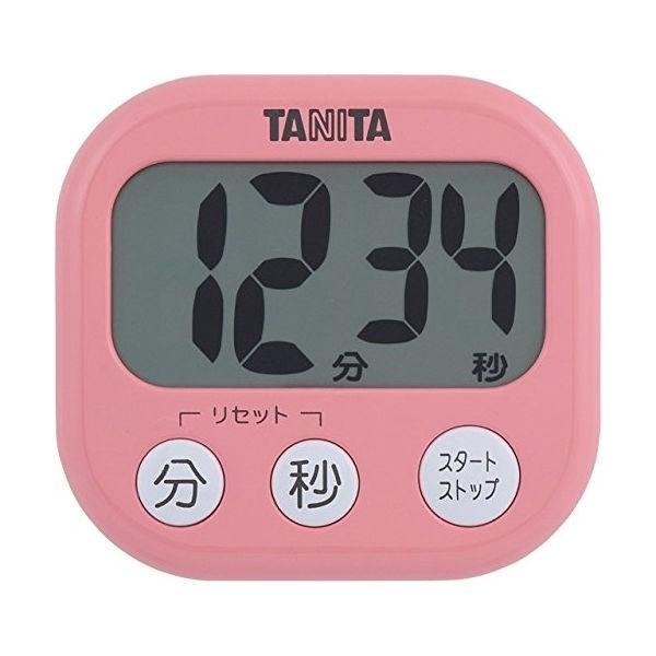 タニタ タイマー 大画面 100分 ピンク TD-384 PK でか見えタイマー