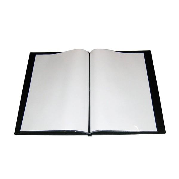 全品P5〜10倍 シンビ メニューブック SOL-1ブラック PAAC402