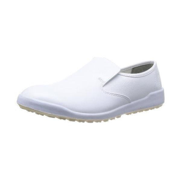 ミドリ安全 超耐滑軽量作業靴 ハイグリップ 白 25.5cm H-100C CD:378481
