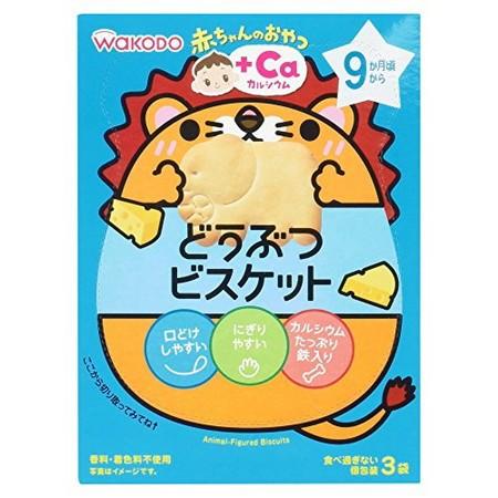 和光堂 赤ちゃんのおやつ+Ca どうぶつビスケット 11.5g×3袋