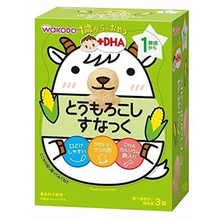 和光堂 1歳からのおやつ+DHA とうもろこしすなっく 4g×3袋