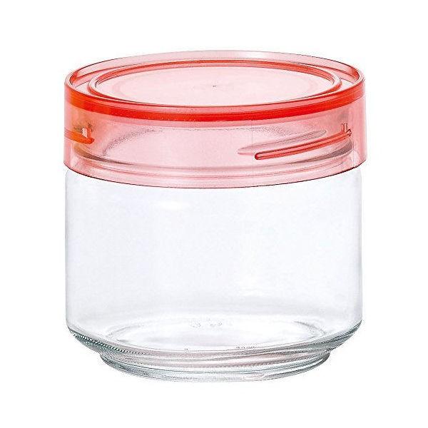 全品P5〜10倍 アデリア ガラス保存容器 クリアピンク 500mL カラーキャップボトル 日本製 M-6625