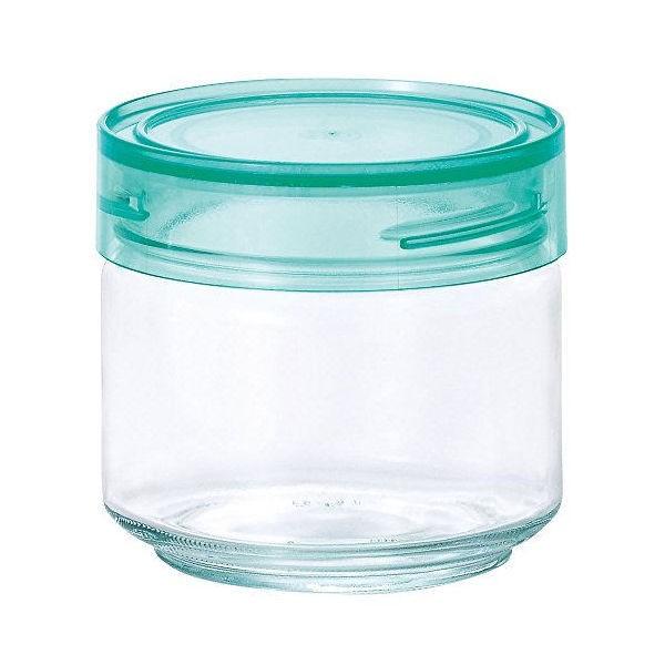 全品P5〜10倍 アデリア ガラス保存容器 クリアグリーン 500mL カラーキャップボトル 日本製 M-6626