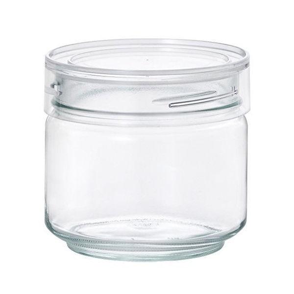全品P5〜10倍 アデリア ガラス保存容器 クリア 500mL カラーキャップボトル 日本製 M-6627
