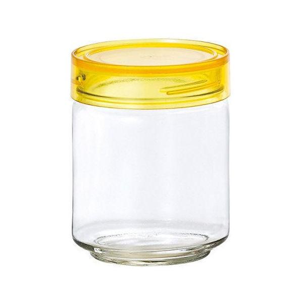 全品P5〜10倍 アデリア ガラス保存容器 クリアイエロー 750mL カラーキャップボトル 日本製 M-6628
