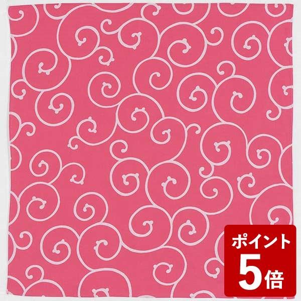 【P5倍】むす美 風呂敷 70cm 京唐草 ピンク 山田繊維