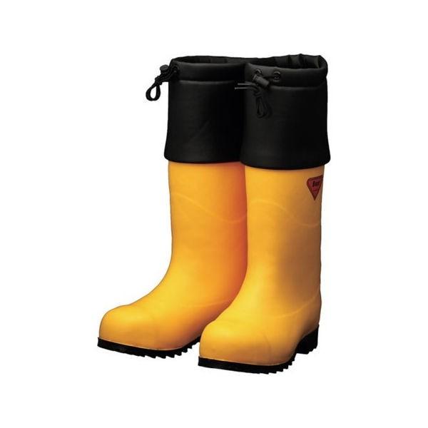 SHIBATA 防寒安全長靴 セーフティベアー#1001白熊(イエロー) AC09128.0