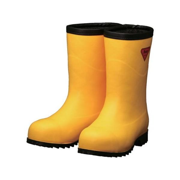 SHIBATA 防寒安全長靴セーフティベアー#1011白熊(イエロー)フード無シ AC10123.0