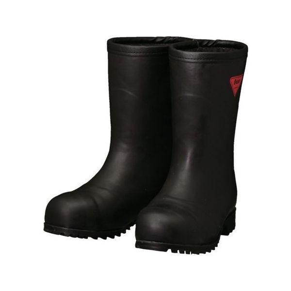 SHIBATA 防寒安全長靴セーフティベアー#1011白熊(ブラック)フード無シ AC12122.0