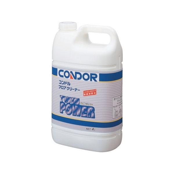 (床用洗剤)フロアクリーナー ツインパワー 4L コンドル C30104LXMB-2101