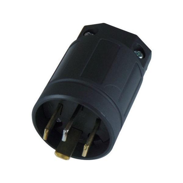 平刃形 ナイロンプラグ(保護カバー付) 接地3P20A250V アメリカン電機 9222NB-1415