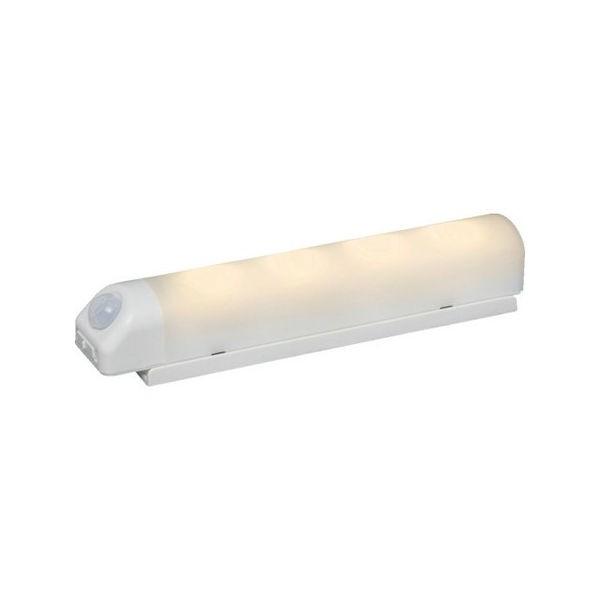 乾電池式LED屋内センサーライト ホワイト ウォールタイプ 電球色 IRIS BSL40WLW-1256