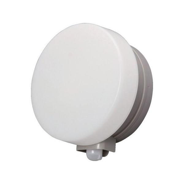 乾電池式LEDセンサーライト ウォールタイプ 丸型 電球色 IRIS BOSWL1MWS-1256