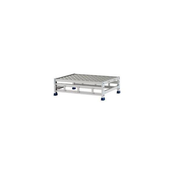 アルインコ 作業台(天板縞板タイプ)1段 天板寸法800×600mm高0.25m CSBC128WS