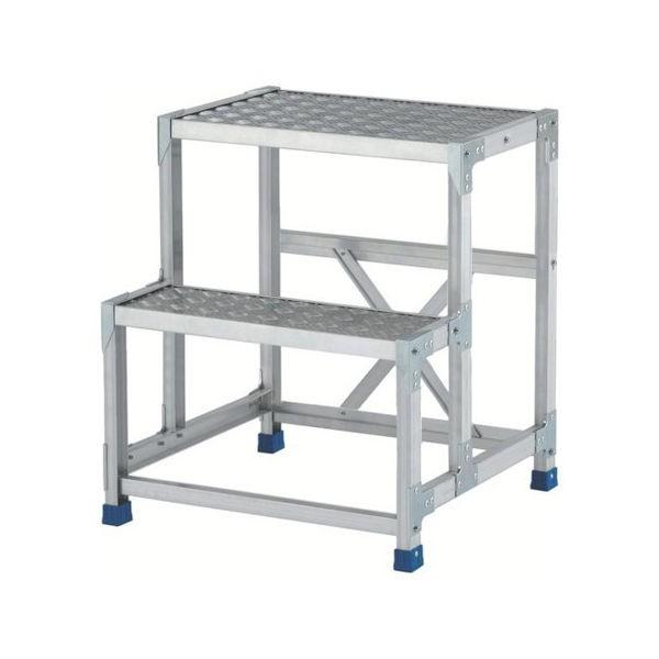 アルインコ 作業台(天板縞板タイプ)2段 CSBC276S