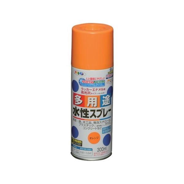水性多用途スプレー 300ML オレンジ アサヒペン 565075-1399