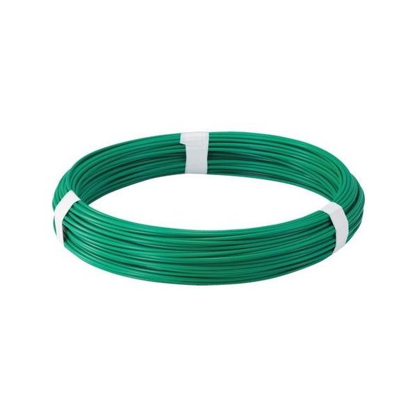 全品P5〜10倍 カラー針金 ビニール被覆タイプ グリーン 線径1.2mm TRUSCO TCW12GN-3100