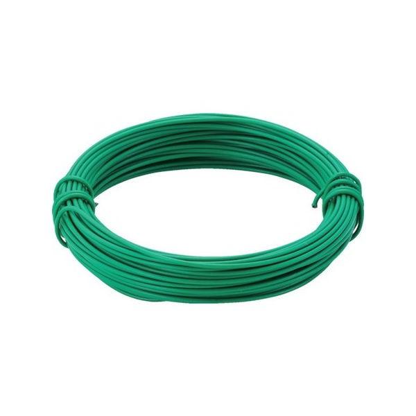全品P5〜10倍 カラー針金 ビニール被覆タイプ グリーン 線径0.9mm TRUSCO TCW09GN-3100