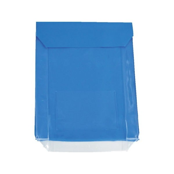 全品P5〜10倍 TRUSC0 通い袋 マチ付 ブルー TRUSCO TKM3037BL-8000