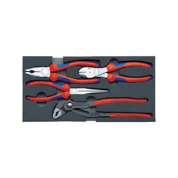 002001V01 プライヤーセット ウレタンフォームトレイ付 KNIPEX 002001V01-2316